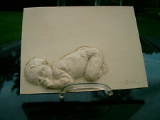 Nude Baby 3D Wonderful Signed Plaque Picture by ZUTZ handmade RARE CLEARANCE