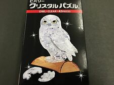 New Beverly Crystal 3D Jigsaw Puzzle Clear Owl 42 Piece 4977524484646 from JAPAN