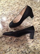 Vintage I. Magnin Satin Silk Pumps Heels Shoes by Rinaldi size 8.5Aa
