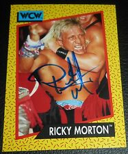 Ricky Morton Signed 1991 WCW Impel Card #102 WWE Autograph Rock n Roll Express