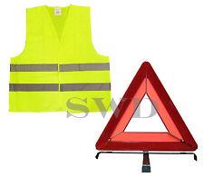 Hazard Warning Triangle High Vis Visibility Hi Viz Vest EN471 Breakdown Sign EU