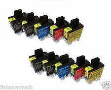 10Tinten Cartuchos para Brother LC-900 DCP115C MFC3240C Cian Magneta Yelllow