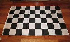 3 BLACK AND WHITE CHECKERED FLAG 3'X5' NASCAR RACING BANNER CHECKER FLAGS