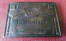 Vintage Budweiser Beer Belt Buckle Wyoming Studio Art Works