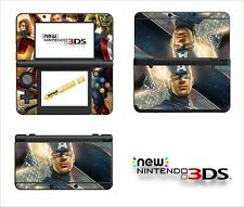 SKIN STICKER AUTOCOLLANT - NINTENDO NEW 3DS - REF 182 AVENGERS CAPITAIN AMERICA