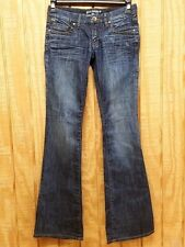 Parasuco Women's Dark Blue Jeans Boot Cut Low Rise Regular Size 26