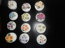 DECORATIVE JEWELRY TRINKET BOXES LOT OF 12 HOLIDAY GIFT COLLECTIBLE FLOWER