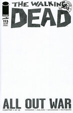 Walking Dead 115 Blank convention variant authentix sketch 1st printing