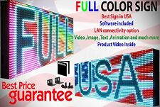 "FULL COLOR VIDEO IMAGE 19""X 38"" PROGRAMMABLE LED SIGN SCROLLING MESSAGE DISPLAY"