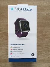 NEW FitBit Blaze Smart Fitness Watch Plum Silver Large Brand NEW in Box Sealed