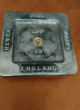 NEW Vintage toggle Industrial Cast metal lightswitch BSEN approved easy RETROFIT
