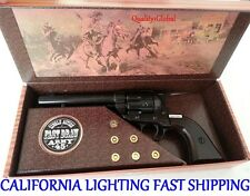 REAL WOOD METAL BLACK NEW CAP REPLICA FAST DRAW M1873 MOVIE PROP Pistol Gun KIT