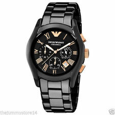 Emporio Armani AR1410 Ceramic Watch For Men's Chronograph Watch With Box