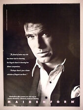 Pierce Brosnan Maidenform PRINT AD - 1990