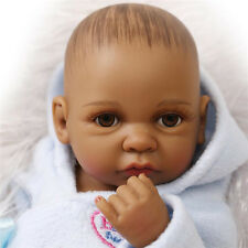 New African American Baby Doll Black  Full Silicone Body Reborn Baby Alive Dolls