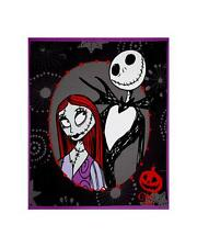 """THE NIGHTMARE BEFORE CHRISTMAS JACK SALLY QUILT FABRIC PANEL COTTON 35"""" x 44"""""""