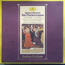 JOHANN STRAUSS LP Die Fledermaus (NM) box set dg 2707088 carol kleiber