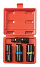 NEW - 4pc 1/2 inch Drive LUG NUT Impact Ready Socket Set - Multi size Metric SAE