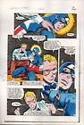 Original 1983 Marvel Comics Captain America 282 page 2 color guide art:Mike Zeck