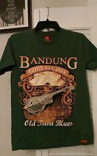 Bandung Parijs Van Java Old Town Blues adult size medium Okitawa! T-shirt Green