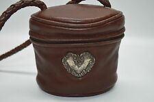 Brighton One World VTG South Western Leather Small Zip Around Cylinder Crossbody