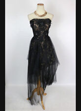 New Authentic Jovani 3836 Black / Nude Evening Prom Dress Formal Women Gown 0