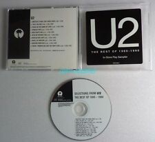 U2 THE BEST OF 1980 1990 CD Single SAMPLER USA PROMO