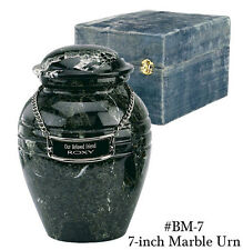 REAL MARBLE INFANT/PET SIZE FUNERAL CREMATION URN W BOX