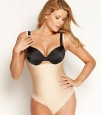 DISCONTINUED! Spanx Firm Open Bust Thong Body Shaper 2206 Beige SZ S