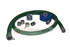 "2"" Green Trash Pump Water Suction Hose Honda Kit w/50' Blue Discharge Hose"