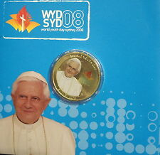 Australia 2008 Youth Day - Papal Visit $1 - Card