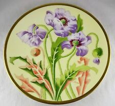 Limoges Elite China Floral Plate - Hand Painted, Artist Signed