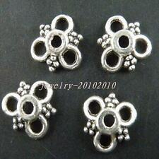 250pcs Tibetan Silver Nice Flower Bead Caps 10x3mm 8938