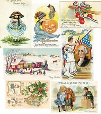 5000 VINTAGE Ephemera HOLIDAY GREETING Card Image EASTER/HALLOWEEN/CHRISTMAS Dvd