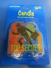 Top Secret Agent Detective Spy Kids Birthday Party Decoration Flat Cake Candle