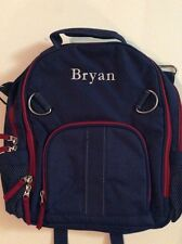 Pottery Barn Kids Small Fairfax Navy Blue Red Backpack Name BRYAN New