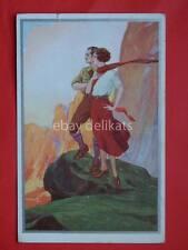 Dudovich (?) vecchia cartolina old postcard montagna