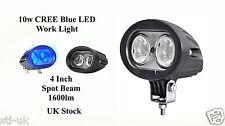 10w Blue LED Warning Lamp Spot Beam 4x4 SUV Truck Forklift ATV Safety Work Light