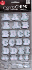 MAMBI Chips ALPHABET themed embellishment set~NICE! BNIP!
