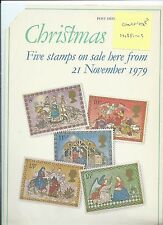 wbc. - GB - ROYAL MAIL POSTERS - A4 - 1979 - CHRISTMAS - MINOR FAULTS