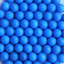 100 New .68 cal Reusable Rubber Training Balls Paintballs Blue Color