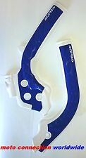 ACERBIS X-GRIP FRAME GUARDS WHITE / BLUE 2017 HUSQVARNA FC250 FC350 FC450