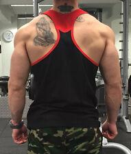 MENS GYM VEST BODYBUILDING VEST MUSCLE STRINGER VEST Y BACK RACERBACK