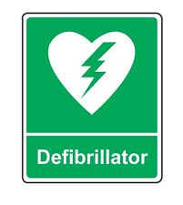 Personalised vinyl AED defibrillator poster / sign A4