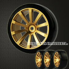 4x RC Drift Reifen golden color  Speed Wheels Komplettset 1:10 Tyres Driftreifen