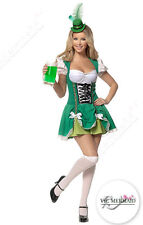 St Patricks Irish Oktoberfest Beer Leprechaun Women Fancy Dress Green Costume