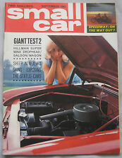 Small Car magazine 09/1963 featuring BMW, Fiat, Hillman Super Minx