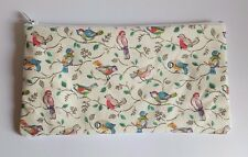 Cath Kidston Little Birds Fabric Handmade Make Up Bag Pencil Case Storage Pouch