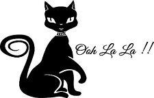 Cat and OOH LA LA  vinyl  wall decal