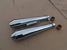 HONDA CB200 MEGPHONE SHORTY CAFE RACER UNIVERSAL SILENCERS EXHAUST  8